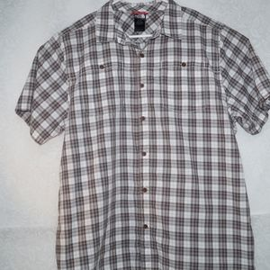 The North Face Mens Plaid Brown Shirt Size XL